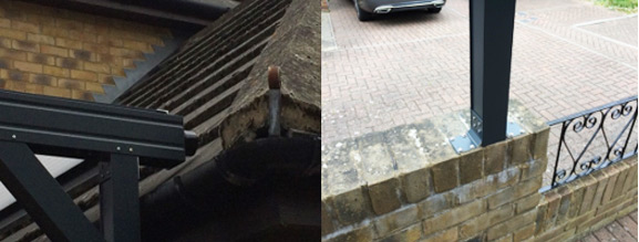 Gutters and Knee Braces