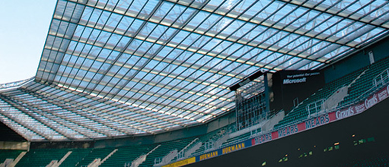 Commercial roofing supplies for sports stadium roofs