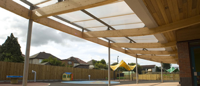 School playground roofing
