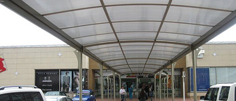 Shopping centre canopies