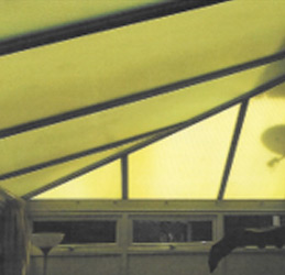 How to replace an old discoloured  polycarbonate roof