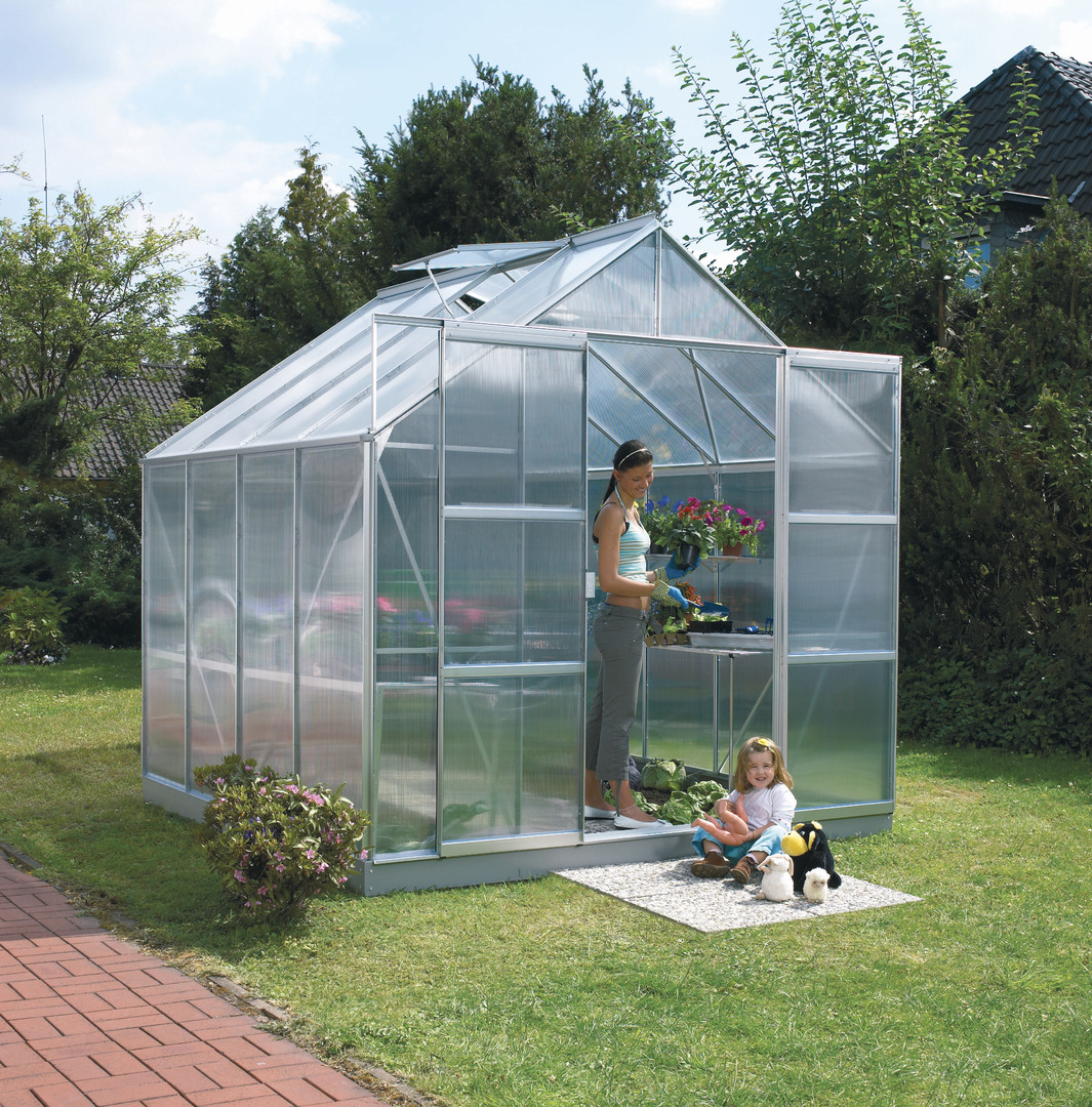 Greenhouse glazing panels