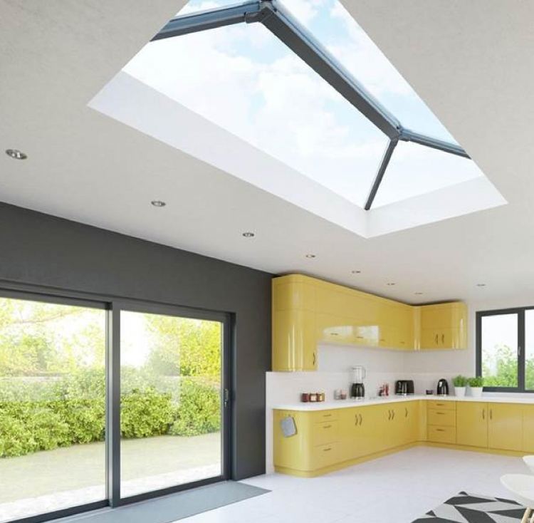 Grey aluminium roof lantern