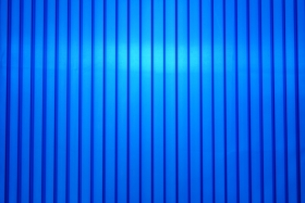 Blue 25mm polycarbonate panels