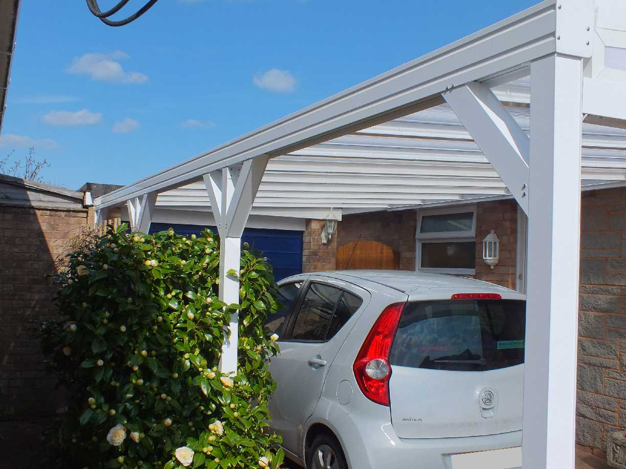 Lean-To Canopy 3.5m Projection with Glazed Polycarbonate