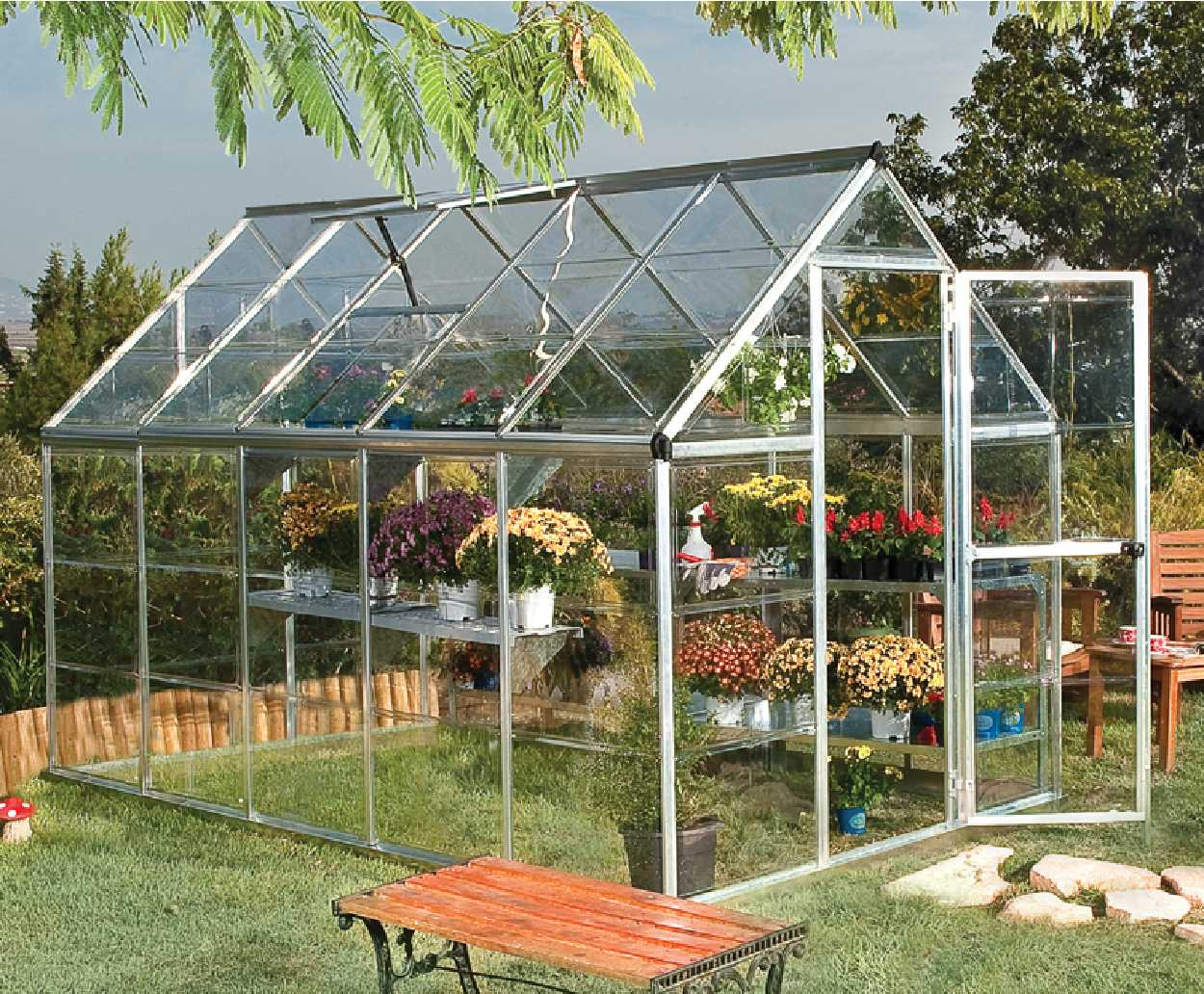 Greenhouses and greenhouse frames