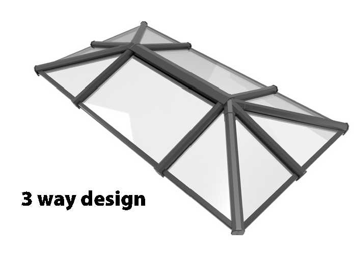 10 Panel Contemporary Aluminium Roof Lantern