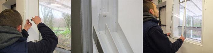 Sliding diy secondary glazing solution