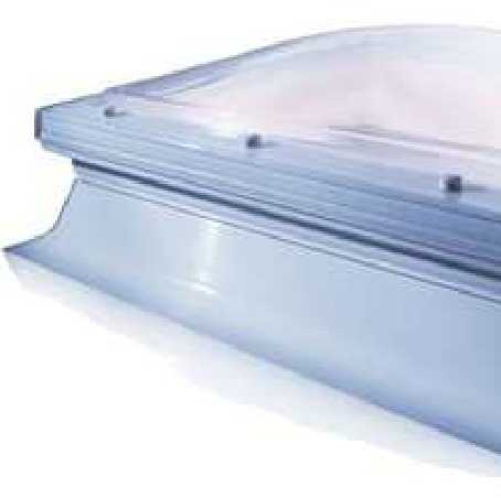 Mardome Trade  - Manual Opening Dome with sloping kerb with Manual Vent, 1200mm x 1800mm