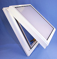 Standard All Aluminium Conservatory Roof Vent (Bar-to-Bar) for 28mm ,32mm, 35mm glazing thickness.