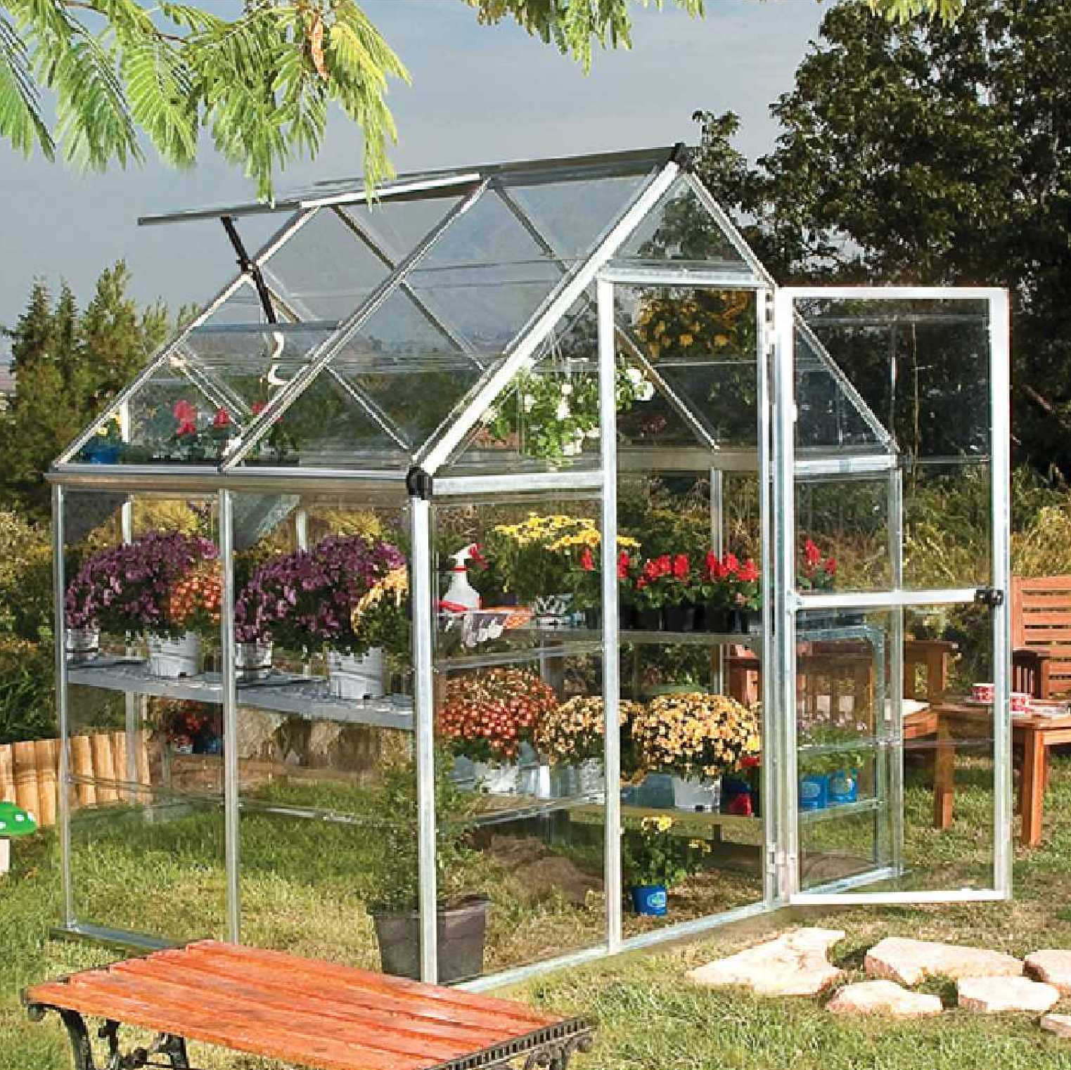 Greenhouse, Silver aluminium frame, 6ft. X 4ft. (6' x 4')