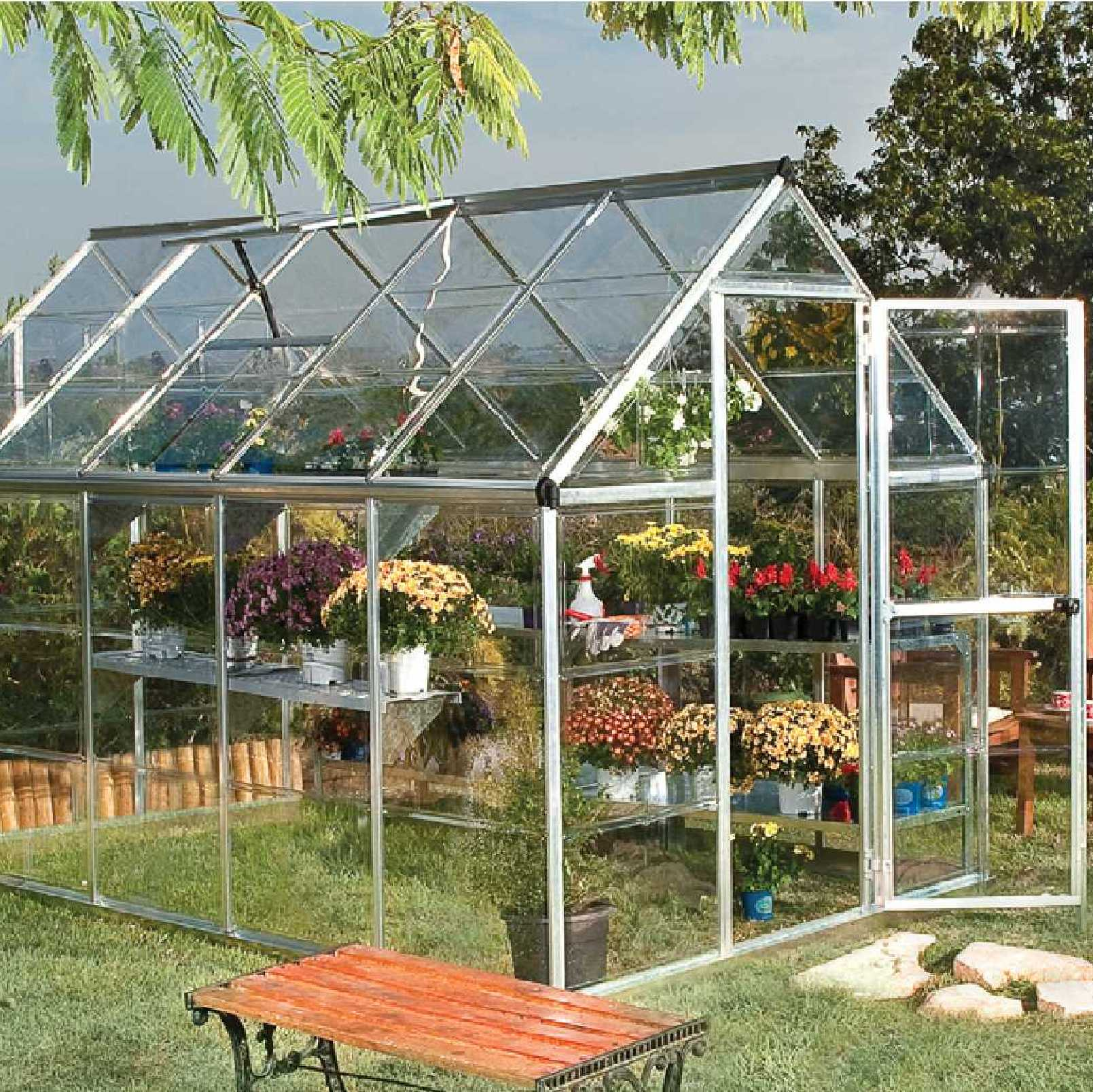 Greenhouse, Silver aluminium frame,6ft. X 8ft. (6' x 8')