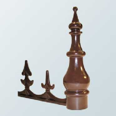 Aluminium Cresting and Finial for Aluminium Rafter Ridge Cap - 585mm