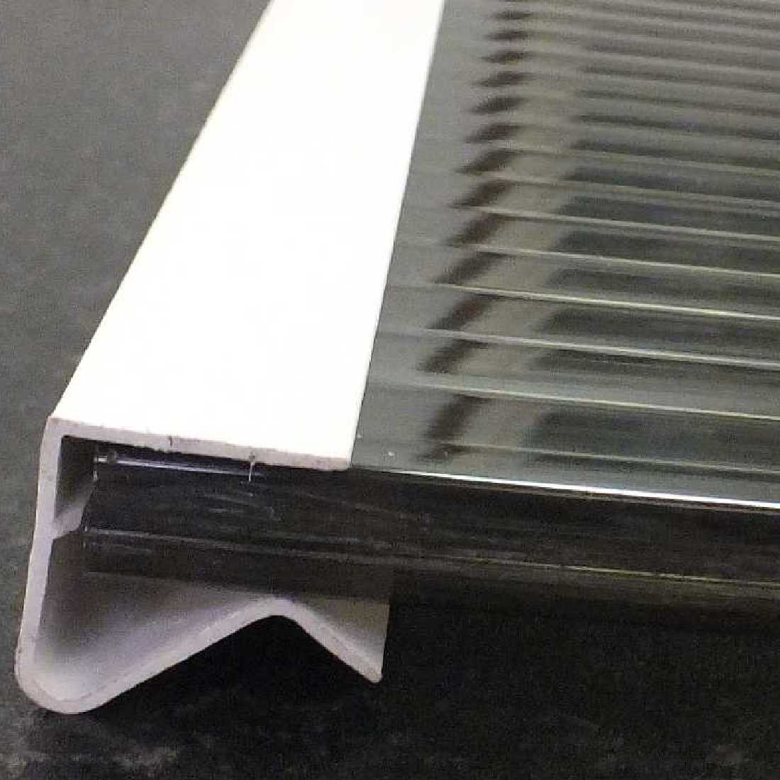uPVC Sheet Closures for 10mm thick glazing, 2.1m