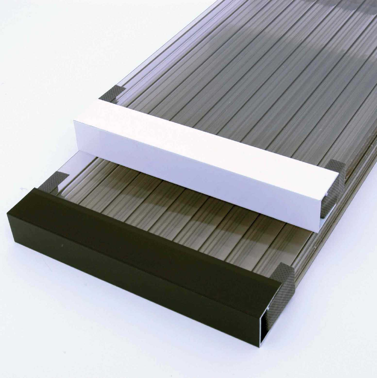 uPVC Sheet Closures for 35mm thick glazing, 2.1m