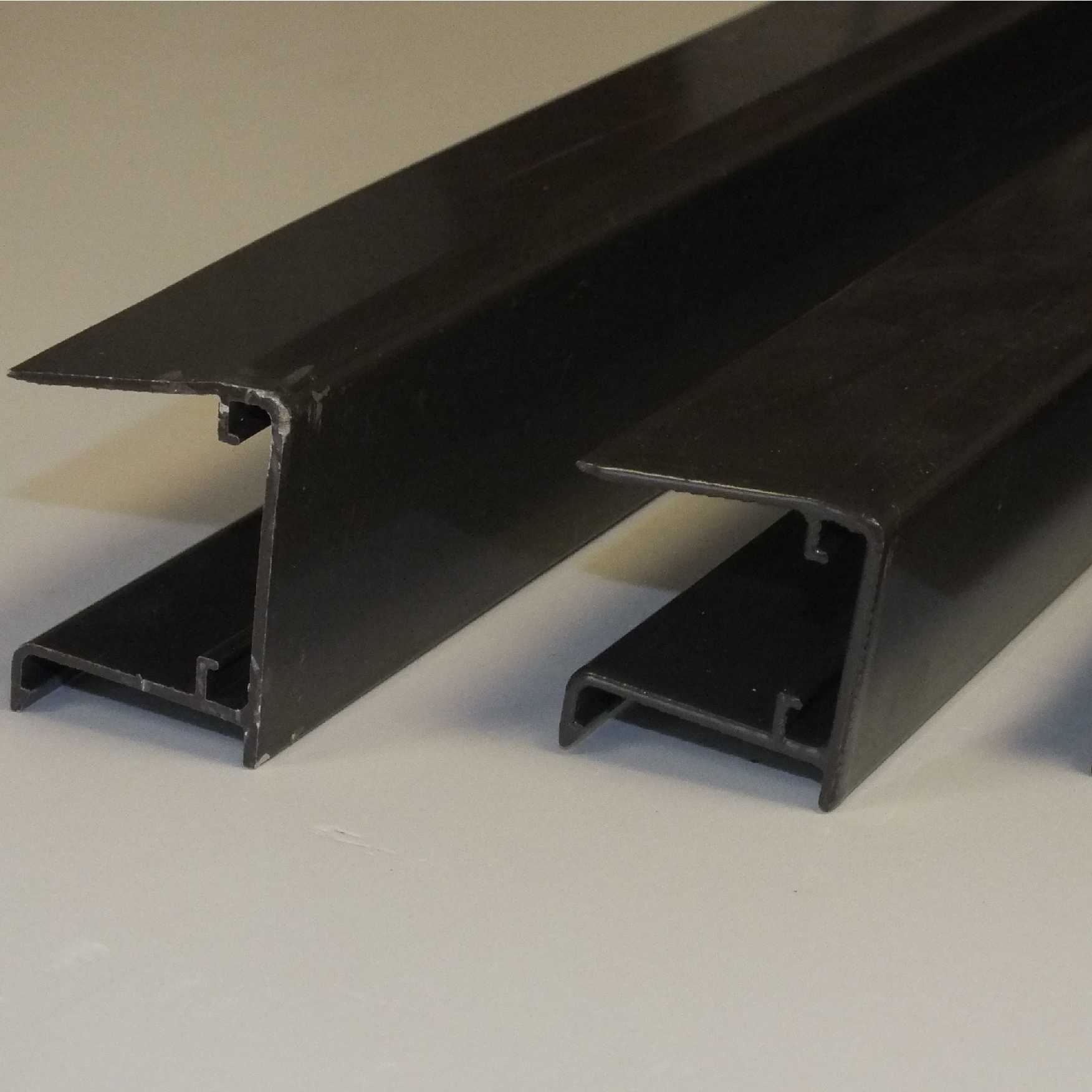 Aluminium Sheet Closures for 35mm thick glazing, 2.1m