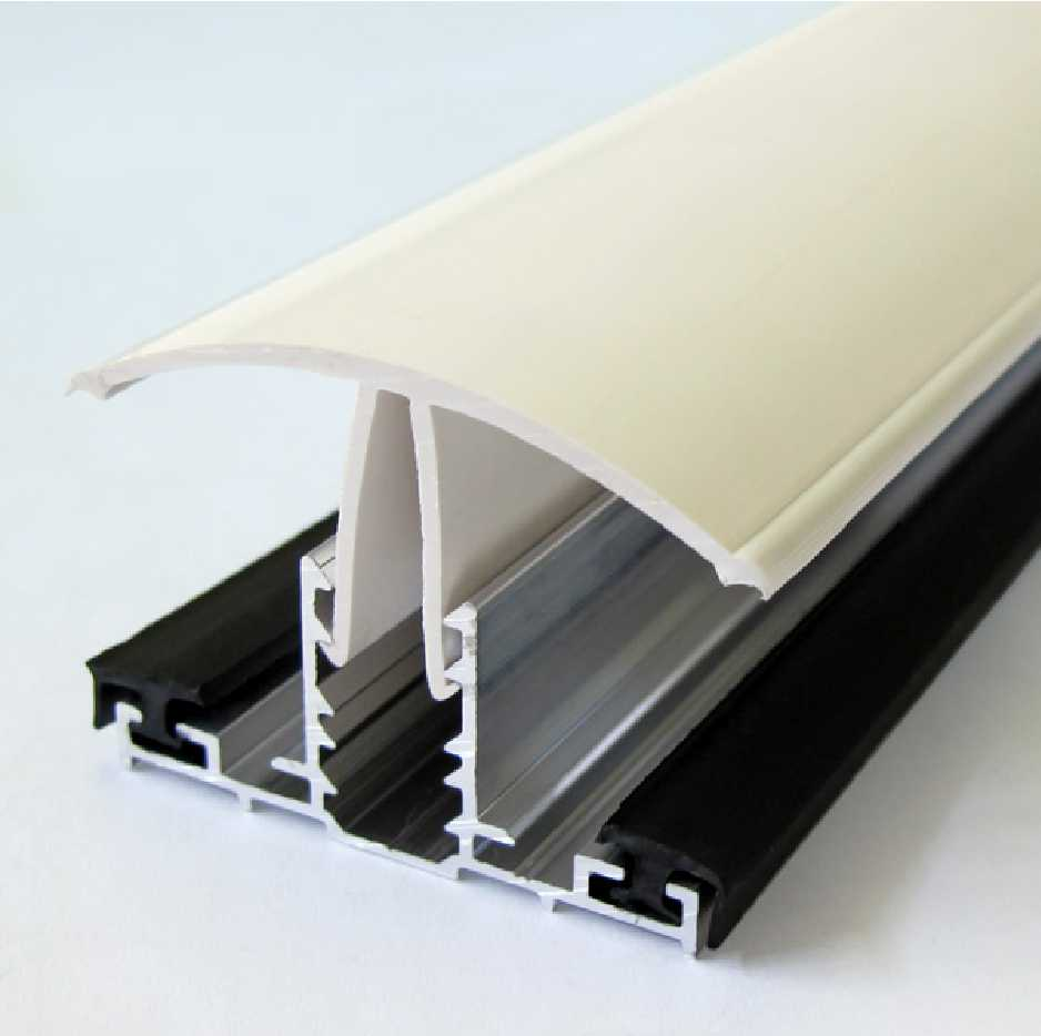 Snapfix uPVC Rafter Supported Glazing Bar for 10-16mm thick Polycarbonate Glazing, 5.0m -6.0m