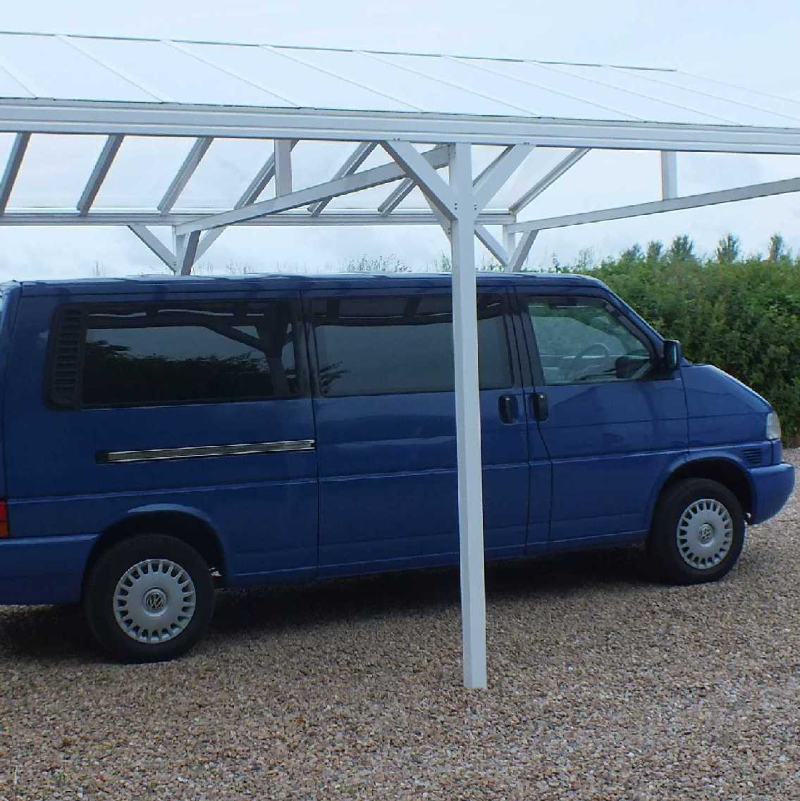 Great deals on Omega Smart Free-Standing, Gable-Roof (type 1) Canopy with 16mm Polycarbonate Glazing - 6.3m (W) x 3.5m (P), (8) Supporting Posts