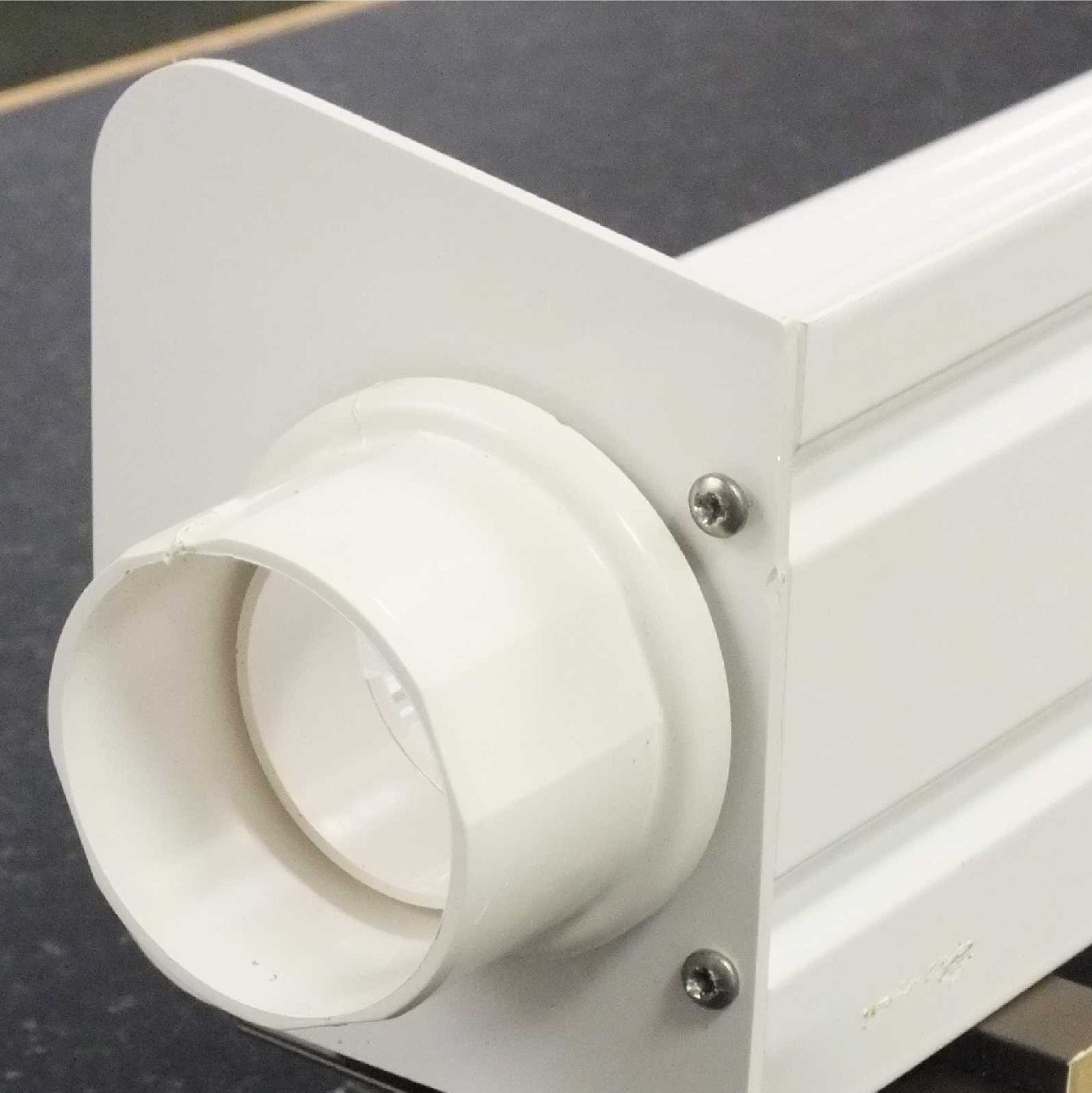 Buy Omega Smart Canopy Gutter adaptor - Eaves End Plate Fitting, White online today