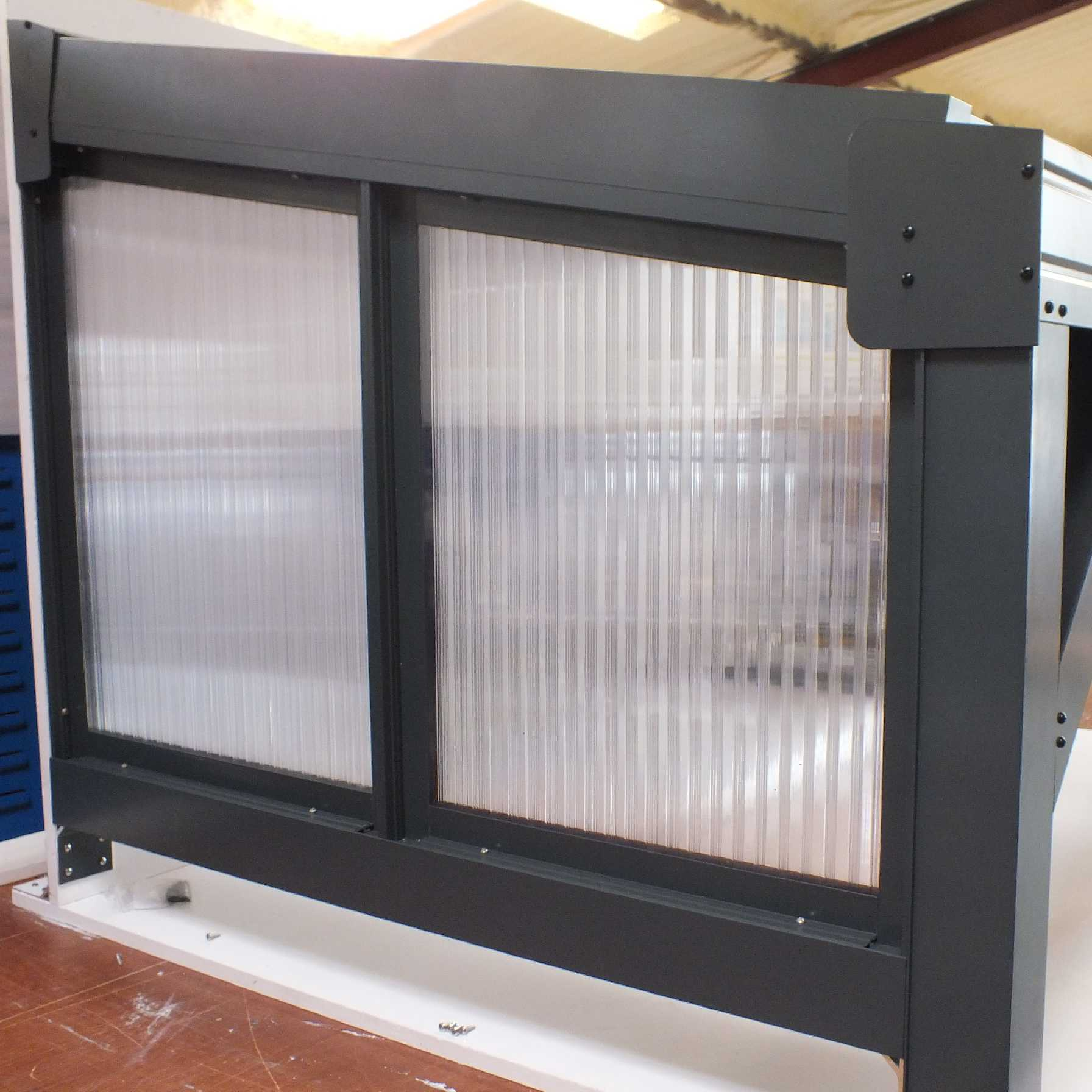 Affordable Omega Smart Canopy - FULL Side In-Fill Section for Sides of Canopy, 16mm Polycarbonate In-Fill Panels, White Frame