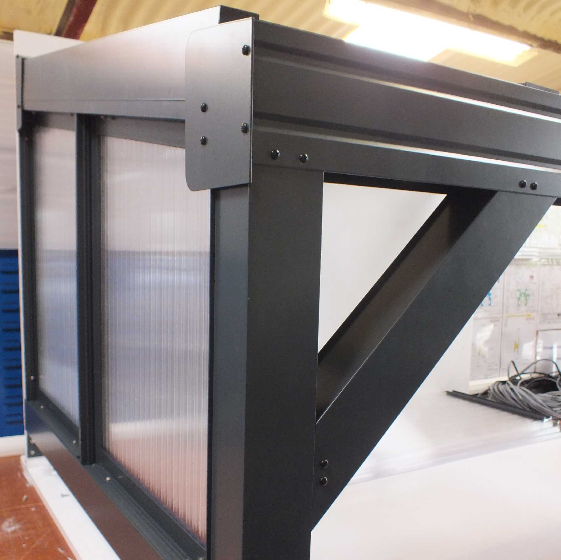 Great selection of Omega Smart Canopy - FULL Side In-Fill Section for Sides of Canopy, 16mm Polycarbonate In-Fill Panels, White Frame