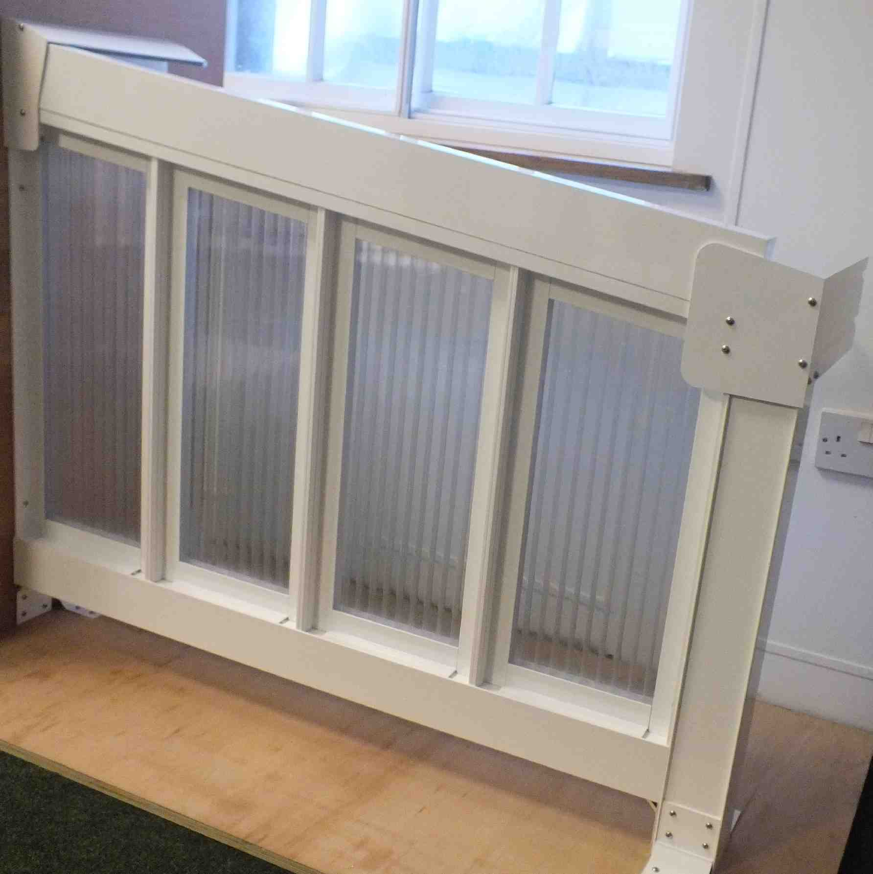 Buy Omega Smart Canopy - FULL Side In-Fill Section for Sides of Canopy, 6mm Glass Clear Plate Polycarbonate In-Fill Panels, White Frame online today