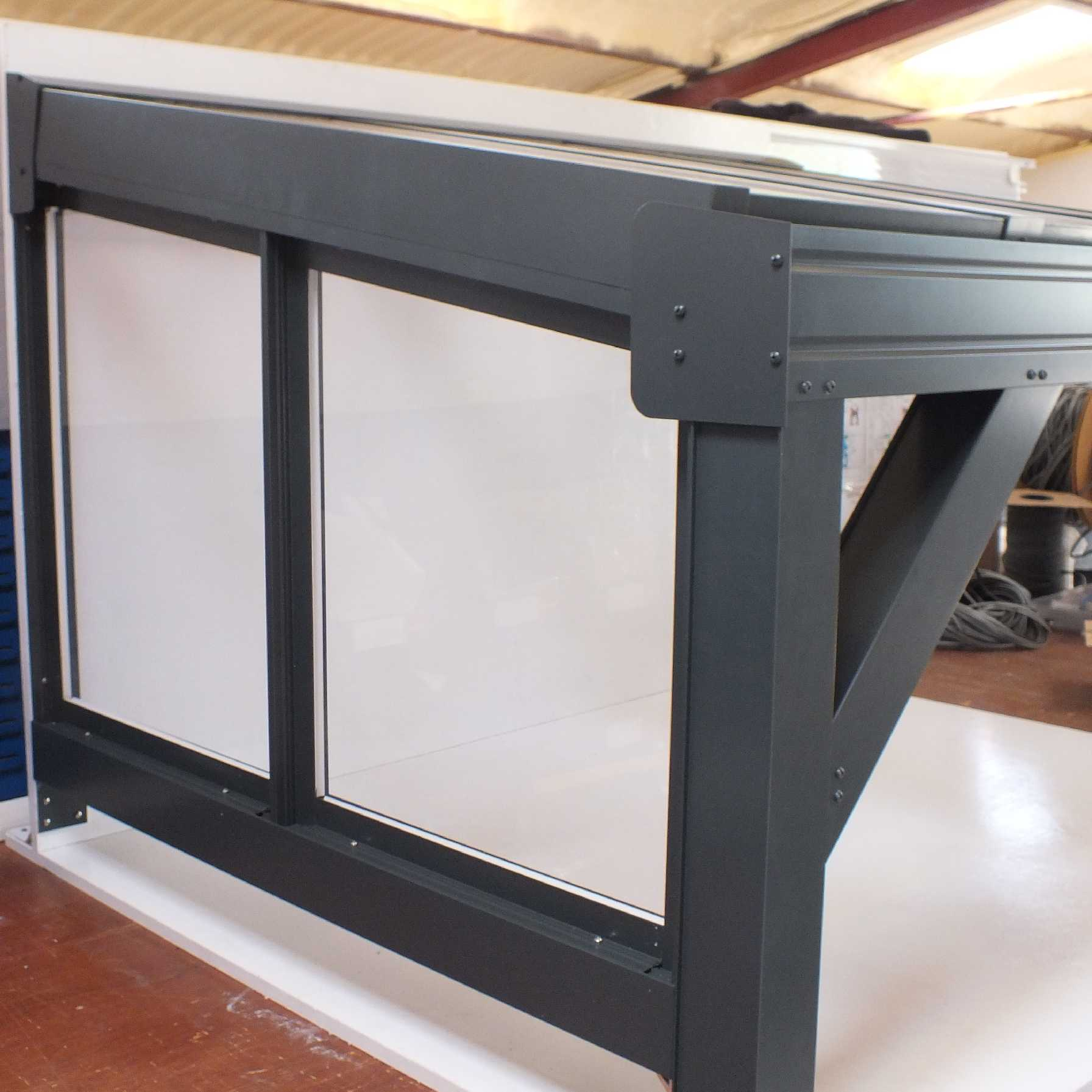 Omega Smart Canopy - FULL Side In-Fill Section for Sides of Canopy, 6mm Glass Clear Plate Polycarbonate In-Fill Panels, White Frame from Omega Build