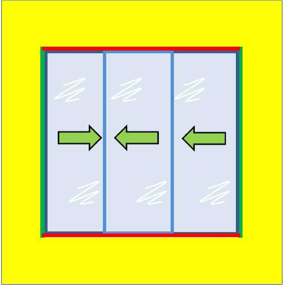 Buy 3 Panel Horizontal Slider with 4mm Plate Polycarbonate Glazing online today