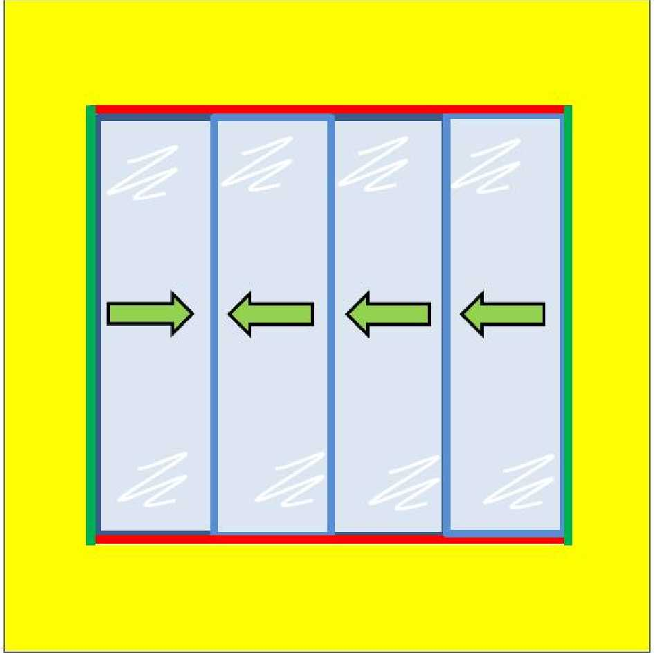 Buy 4 Panel Horizontal Slider with 6mm Plate Polycarbonate Glazing online today