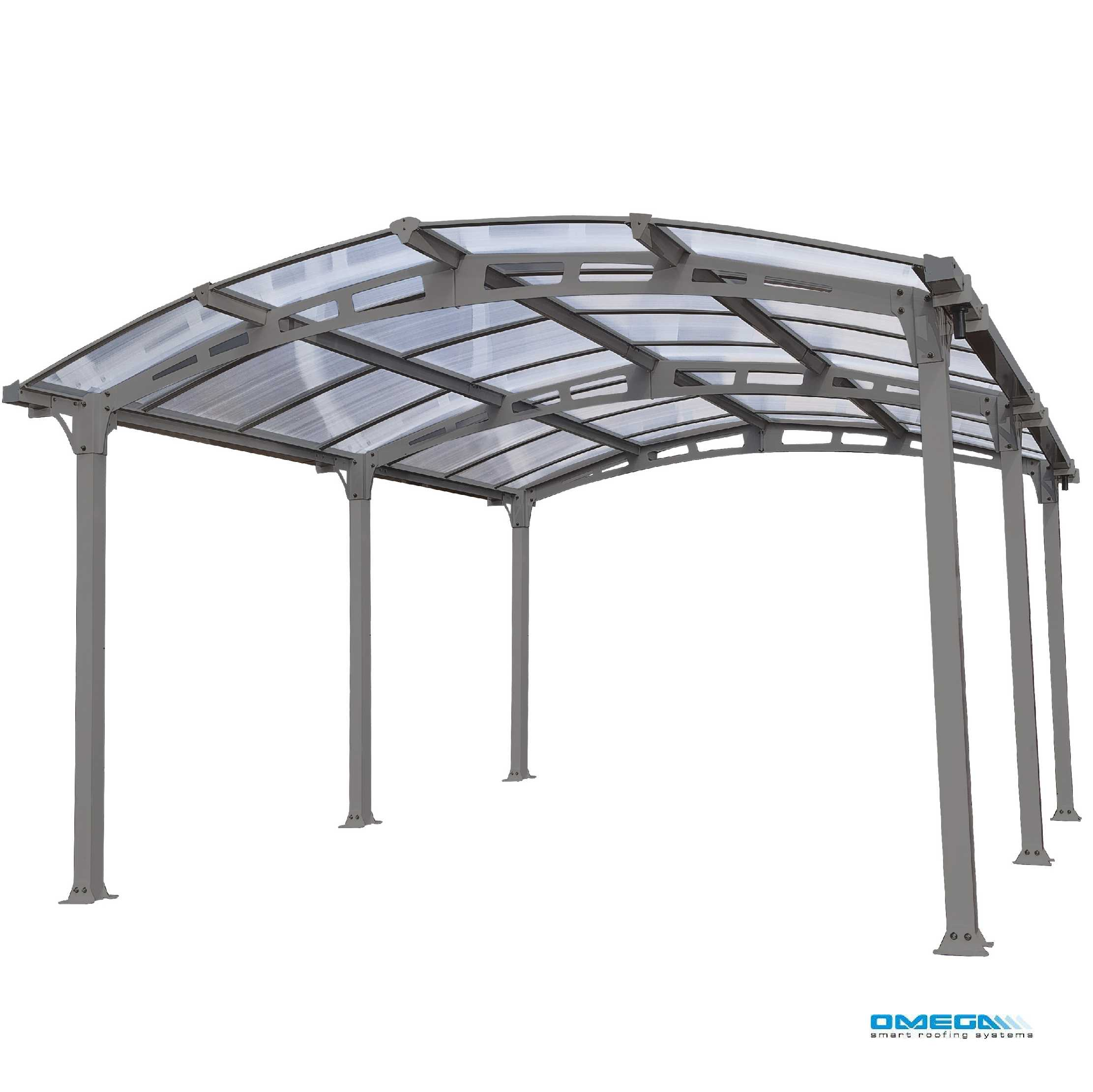 Arcadia 5000 Curved Freestanding canopy 5020 x 3620mm from Omega Build