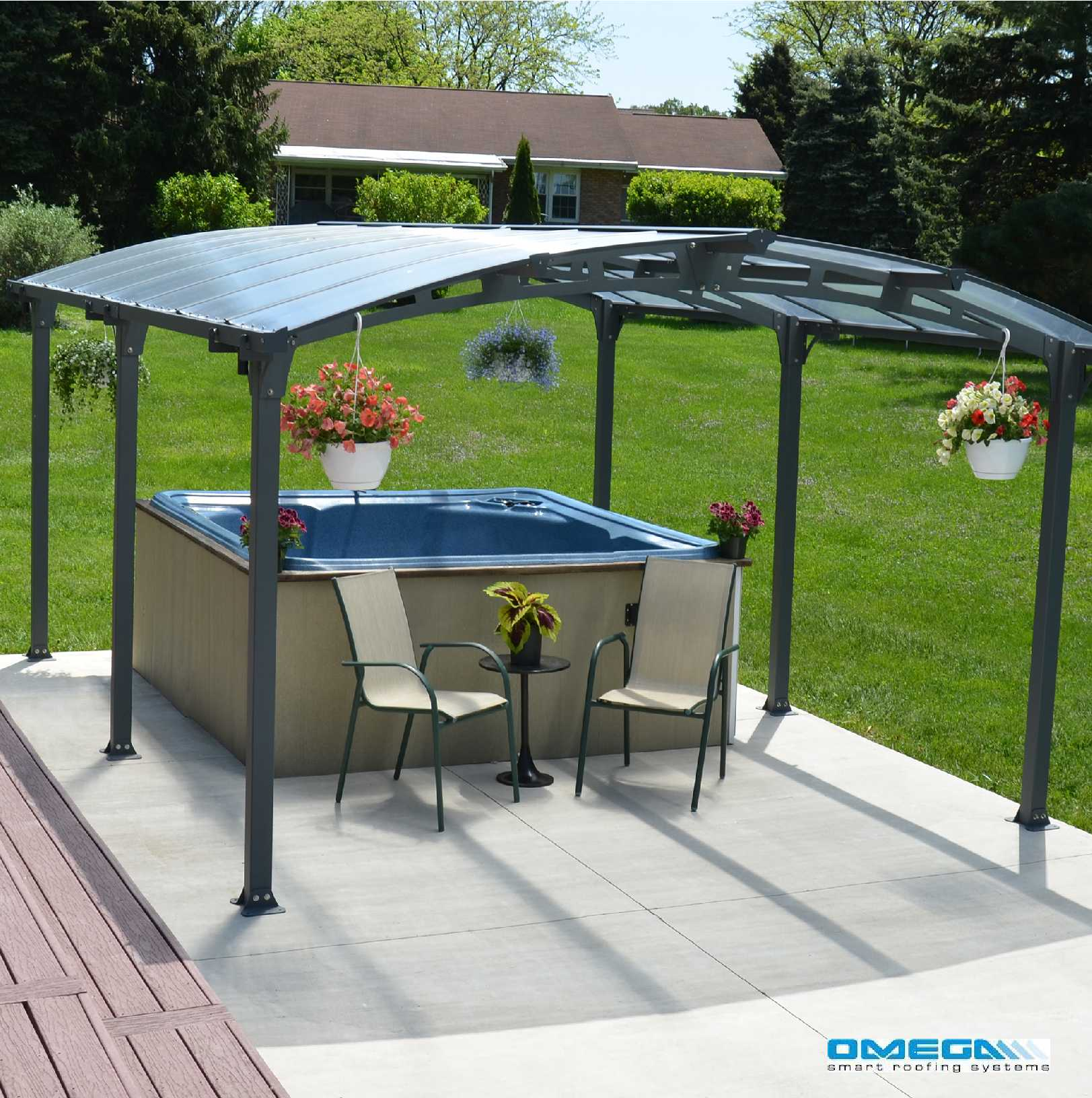Great selection of Arcadia 5000 Curved Freestanding canopy 5020 x 3620mm