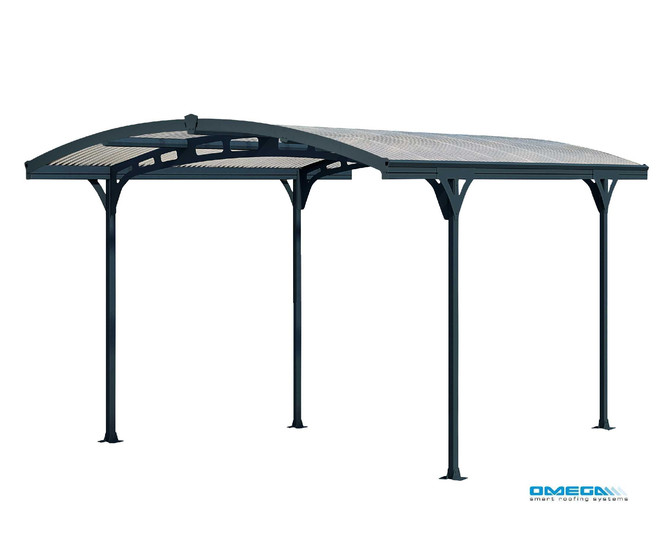 Affordable Atlas 5000 Curved Freestanding Canopy 4950 x 2879mm