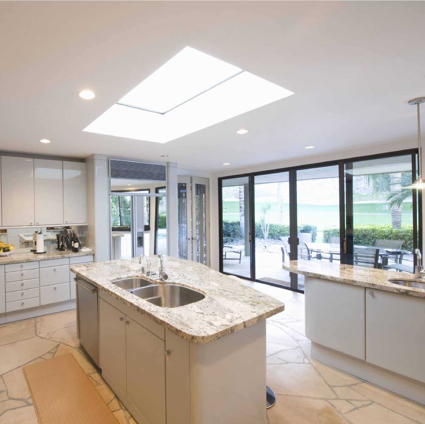 EcoGard Flat Roof light, Double Glazed, Electric Opening, 1,000mm x 1,000mm