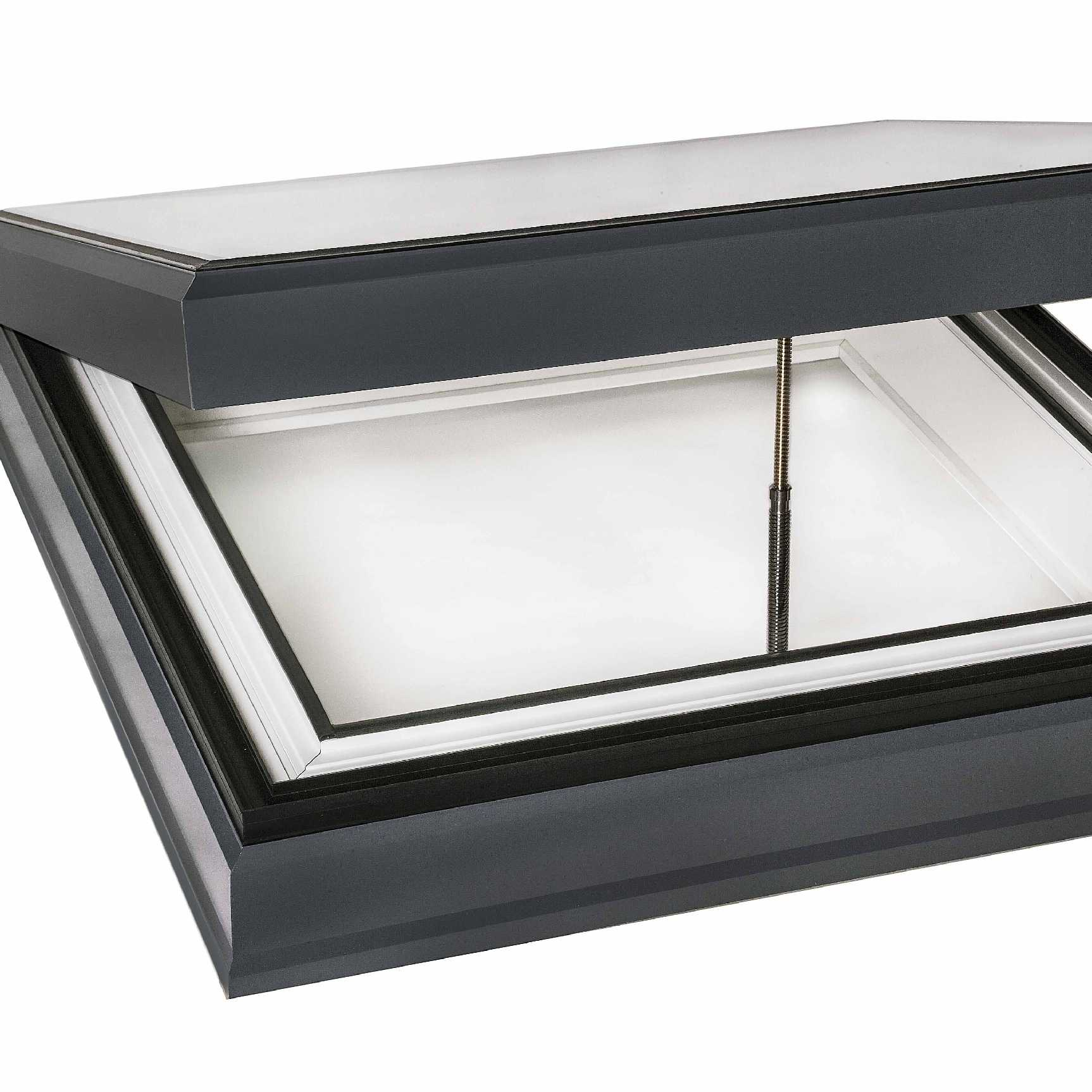 Great deals on EcoGard Flat Roof light, Triple Glazed, Electric Opening, 1,000mm x 1,000mm