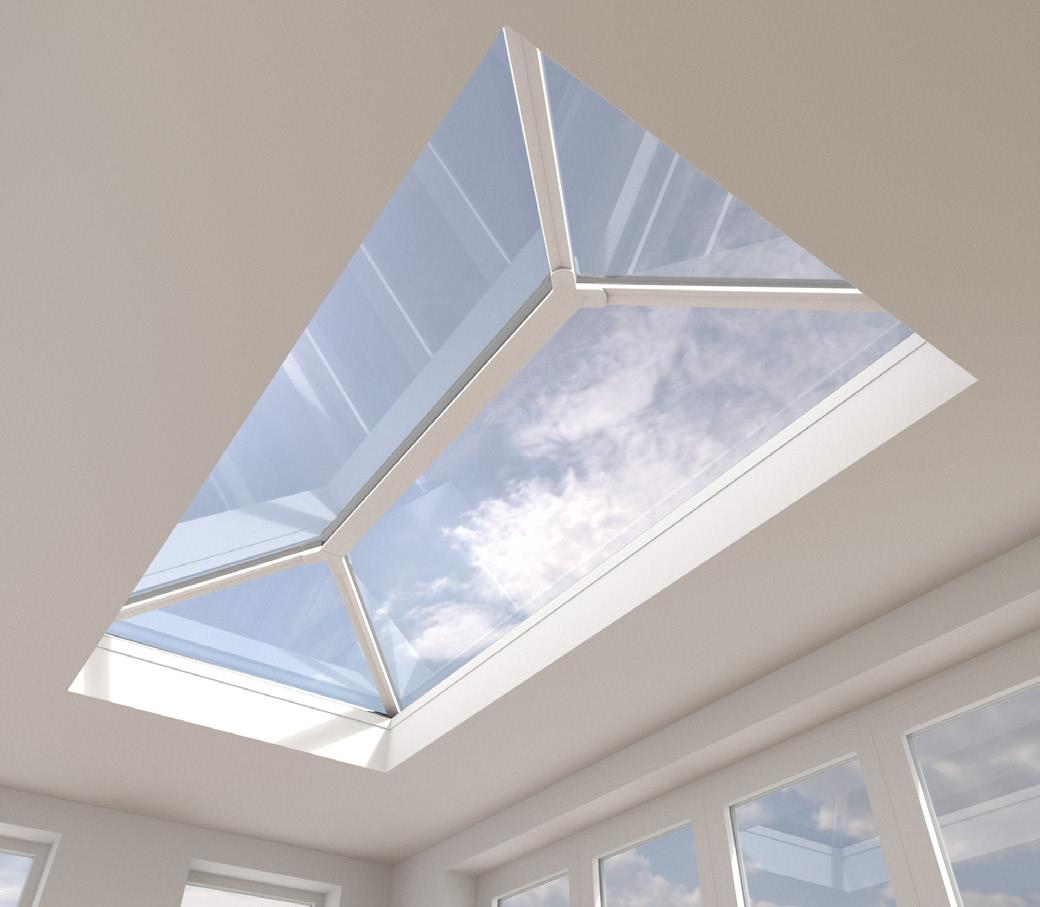 Buy Aluminium Roof Lantern,  Ecoclean Blue Glass online today