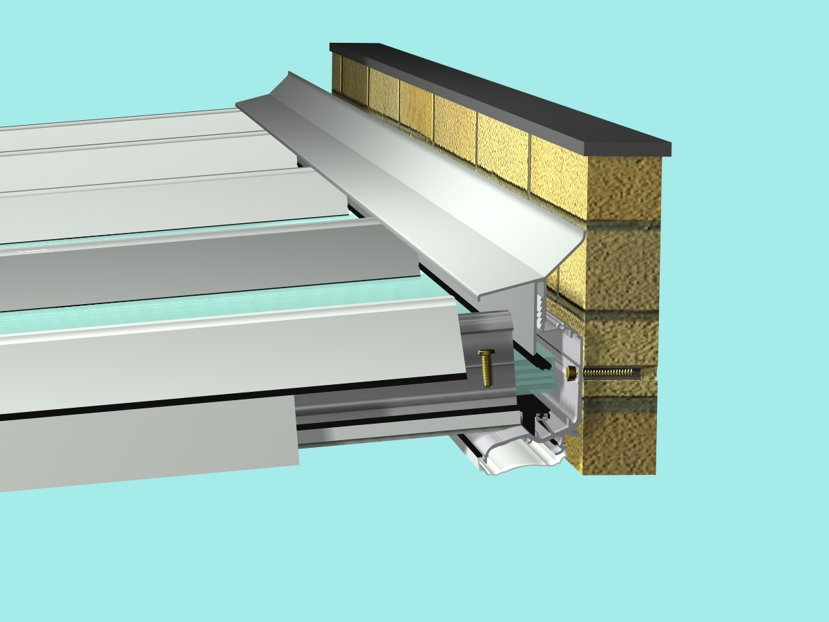 Buy Self-Supporting DIY Conservatory Roof Kit for 16mm polycarbonate, 4.0m wide x 3.5m Projection online today