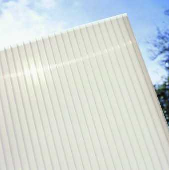 10mm (Twinwall) OPAL Polycarbonate, Standard Rectangular Sheet, upto 4,000mm long