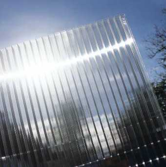 4mm Clear Polycarbonate Sheet (Greenhouse Glazing)  Twin Wall, 730mm wide x 2000mm long