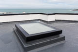Mardome Glass Flat Roof Light Fixed for a builders upstand