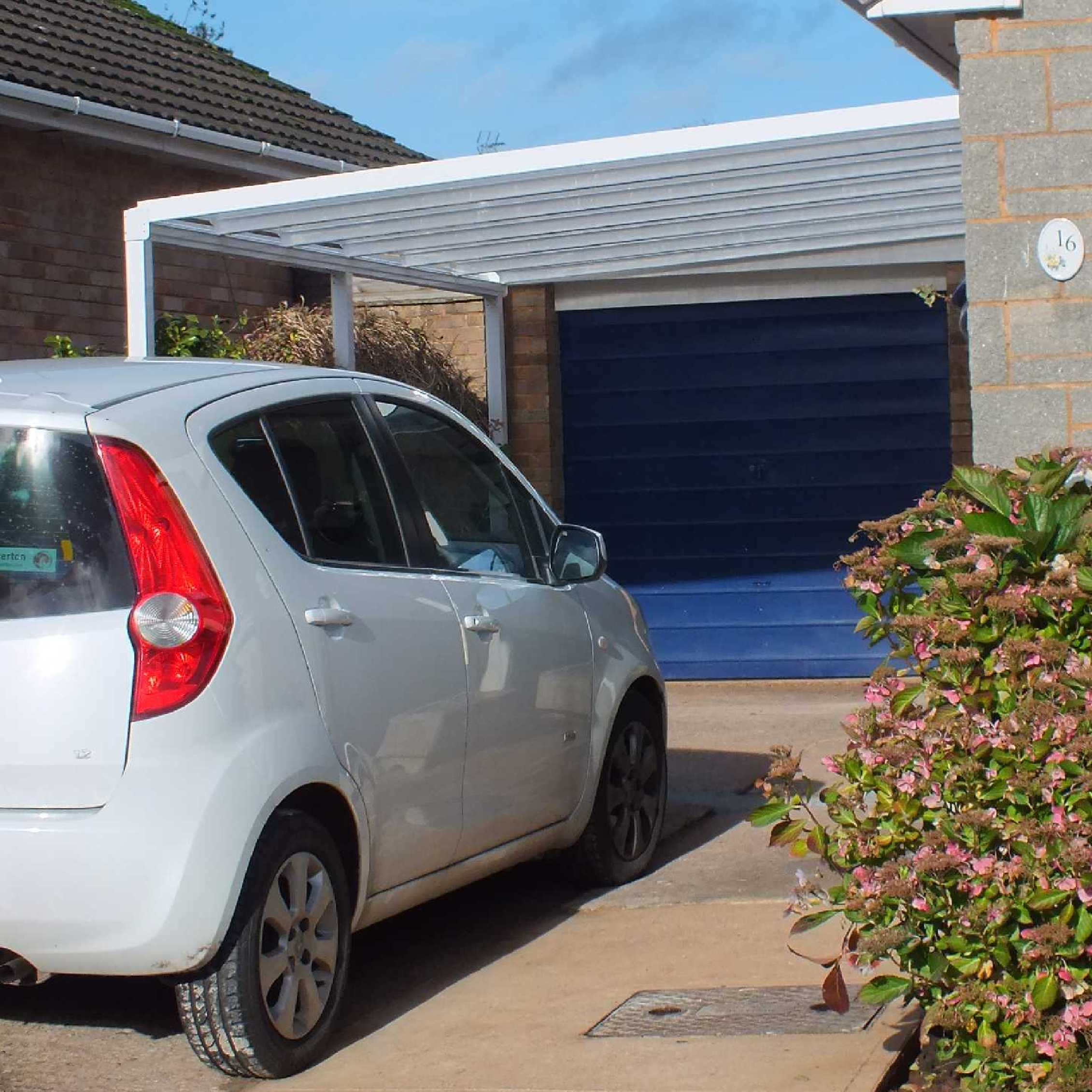 Buy Omega Smart Lean-To Canopy with 16mm Polycarbonate Glazing - 12.0m (W) x 3.0m (P), (5) Supporting Posts online today