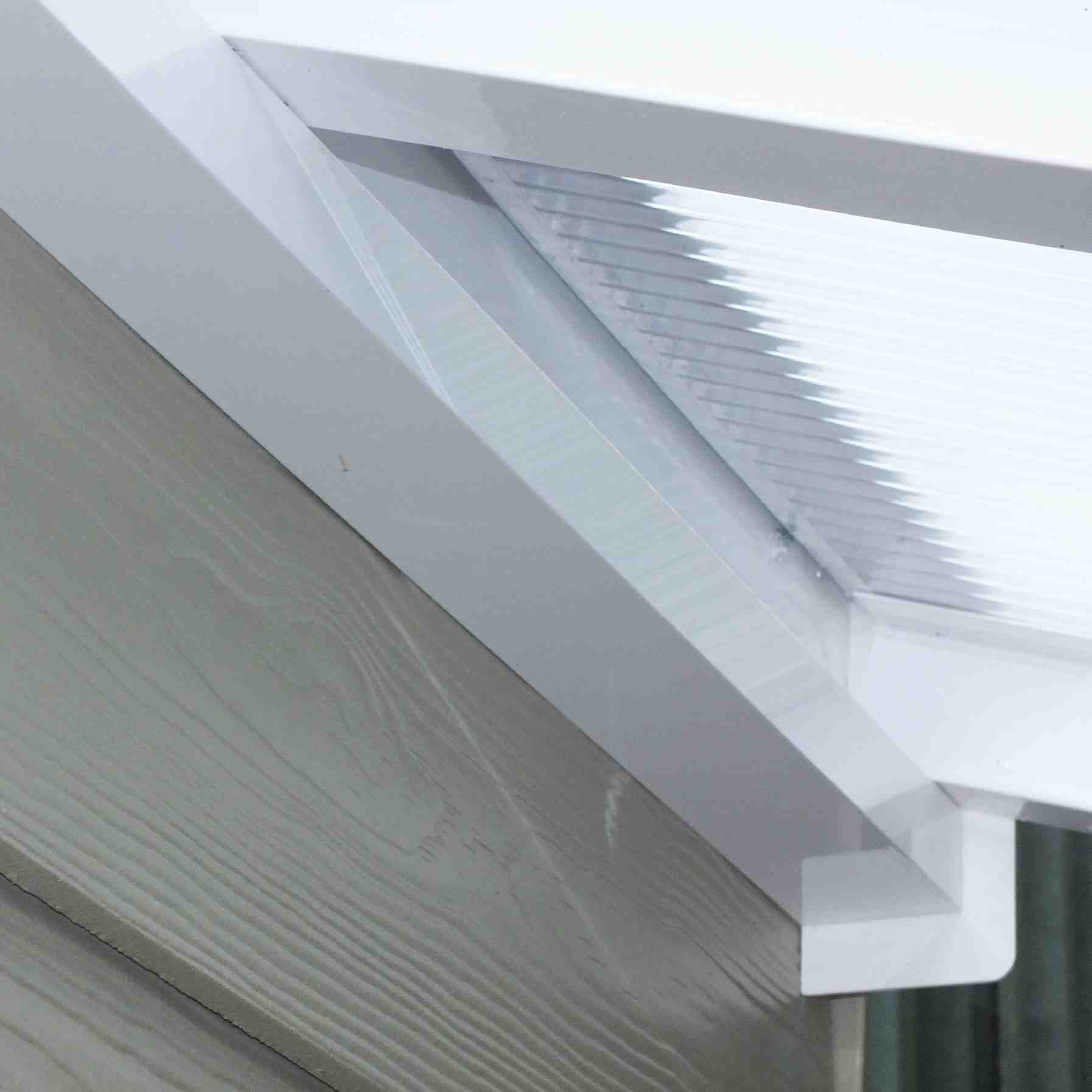 Great deals on Omega Verandah with 6mm Glass Clear Plate Polycarbonate Glazing - 2.1m (W) x 2.0m (P), (2) Supporting Posts