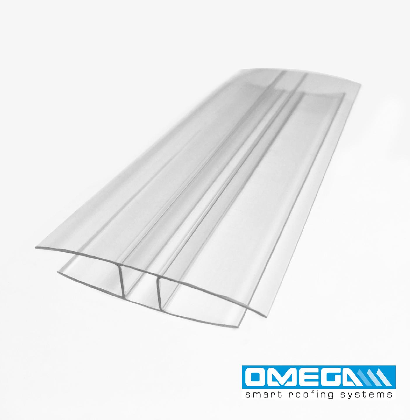 H Joining profile for 8/10mm polycarbonate sheets, 3.0M